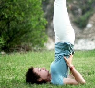 sarvangasana posture chandelle maitri yoga