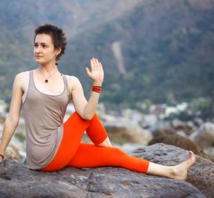 vakrasana torsion posture maitri yoga
